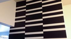 staggered stripes accent wall @DIY Show Off.com