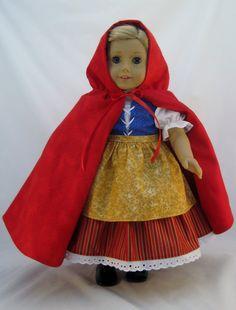 American Girl Größe Little Red Riding Hood von enchanteddesigner