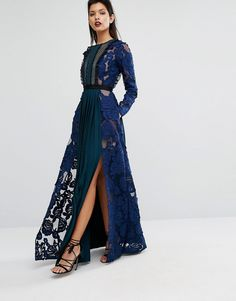 Image 4 ofSelf Portrait Thea Maxi Dress with Pleats