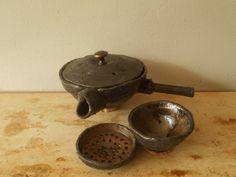 Gres, glaze , bamboo handle