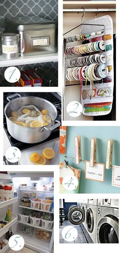 Nice ideas for organizing and cleaning that will be great to use for that spring cleaning frenzy.