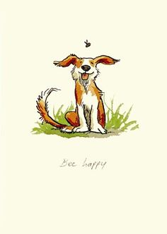 by Anita Jeram Illustration Artist from her It's a dog's life collection. Our favourite Pupper artist! Illustration Mignonne, Gravure Illustration, Art Et Illustration, Animal Drawings, Cute Drawings, Anita Jeram, Art Mignon, Dog Art, Oeuvre D'art