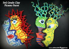 Art Room 104: Clay Picasso Faces