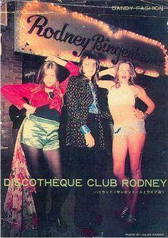 "Rodney Bingenheimer, aka ""Mayor of the Sunset Strip"" outside his discotheque circa 1970."