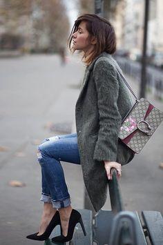Get this look: http://lb.nu/look/7992098 More looks by Zoé Alalouch: http://lb.nu/zoealalouch Items in this look: Asos Coat, Asos Heels, Gucci Bag