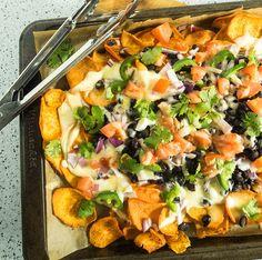 Loaded Sheet Pan Sweet Potato Nachos