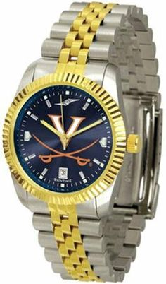 Virginia Cavaliers UVA NCAA Mens 23Kt Executive Watch by SunTime. $141.95. AnoChrome Dial Enhances Team Logo And Overall Look. Men. Links Make Watch Adjustable. Stainless Case With 23kt Gold-Plated Bezel. Officially Licensed Virginia Cavaliers Men's Stainless Steel Alumni Dress Watch. The ultimate fans statement our Mens Executive AnoChrome Watch timepiece offers men and women a classic business-appropriate look. Features a 23kt gold-plated bezel stainless steel ...