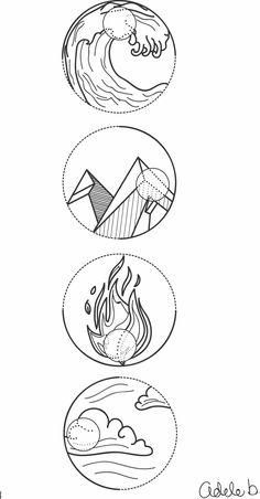 Water, earth, fire, air