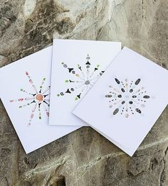 Seashell Snowflake Notecard Set by Quercus Design  on Scoutmob