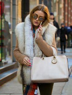 Olivia Palermo Shopping Around SoHo in NYC