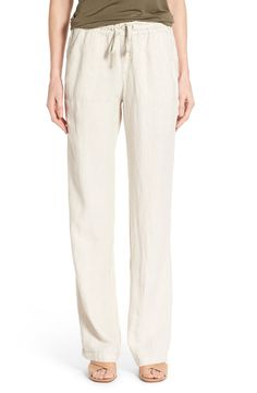 Women's NIC ZOE 'Drifty' Linen Wide Leg Pants | Wide Leg Pants ...