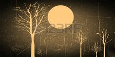 35 Awesome vintage moon art images