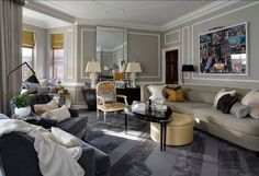 Mount St, Mayfair - Luxury Apartment by Louis Henri (that back mirror is all wrong though)