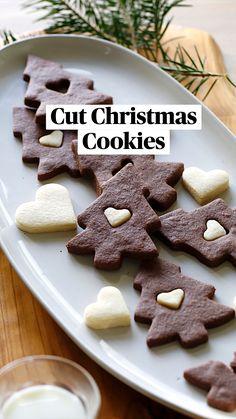 Chocolate Sugar Cookie Recipe, Chocolate Chip Banana Bread, Sugar Cookies Recipe, Cookie Recipes, Christmas Cookies Packaging, Cookie Packaging, Holiday Cookies, Holiday Baking, Christmas Desserts