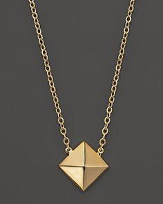 0d58a00669e 14K Yellow Gold Stud Pendant Necklace