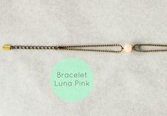 WARM MY SOUL - Bracelet Luna Pink chaine bille et perle rose lait.