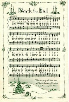 Beautiful Deck the Hall sheet music.