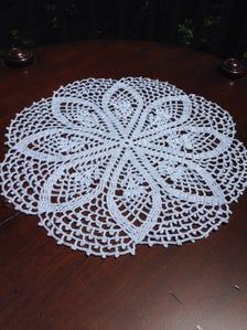 Handmade crochet, 12 light blue doily in a simple traditional pattern. Flowers surrounded by a double crochet border, finished off with a lacy picot edging. Handmade Gifts For Friends, Handmade Items, Crochet Round, Double Crochet, Summer Table Decorations, Friend Birthday Gifts, Crochet Borders, Light Teal, Creative Crafts