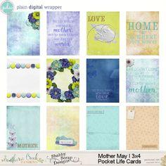 Mother May I  3x4 Pocket Life Cards by SCDCreative #plaindigitalwrapper #PDW #digital #scrapbook #digitalscrapbook #pocketcards #pocketlife #journalcards #SCDcreative