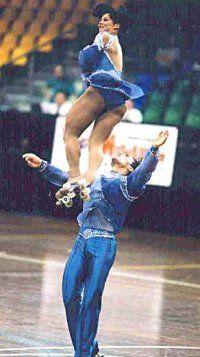 Patrick Venerucci & Beatrice ? - artistic roller skating champions