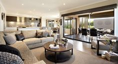 Middle Class family Dream Home 2017 {favour} Home Room Design, Living Room Designs, Living Spaces, Dream Home 2017, Piece A Vivre, Open Plan Living, House Layouts, Finding A House, Modern House Design