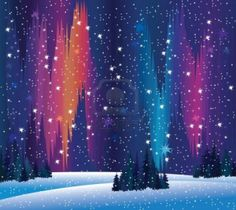 northern lights and winter nature Stock Photo - 11209957