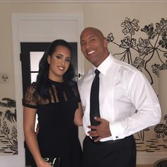 WWE Superstar The Rock (Dwayne Johnson) and his daughter Simone heading to the 2016 Golden Globes #Fatherhood
