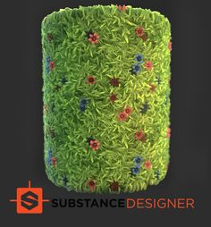 Stylized Grass: Substance, Ashay Thube on ArtStation at https://www.artstation.com/artwork/Lb2ar
