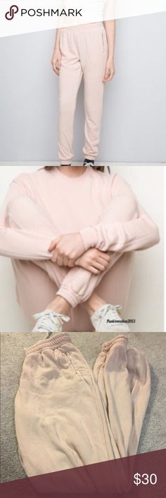 Blush Pink Rosa Sweatpants No stains or holes, listed via eBay for cheaper Brandy Melville Pants