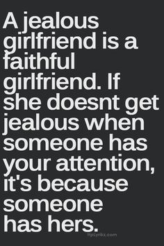 a jealous girlfriend