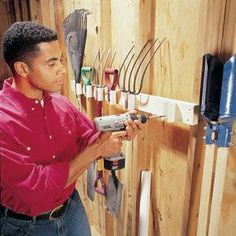 Build a PVC pipe tool rack.