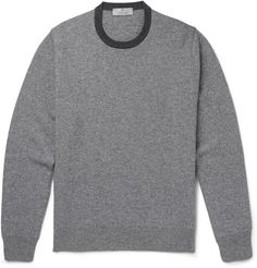 This sweater by Canali has been crafted in Italy for impeccable quality you can both see and feel. Woven from superbly soft cashmere in shades of grey and off-white, it lends a dose of visual interest without overpowering your look. The silhouette is neither uncomfortably fitted nor too louche, meaning it's easy to layer over a T-shirt or under a sharp blazer.