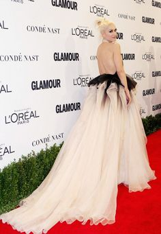 Gwen Stefani wearing Marchesa at Glamour Magazine's Women of the Year Event. Styled by #RandM.