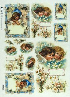 Ricepaper/ Decoupage,Craft Paper, Scrapbooking Sheets Angels 0006 | eBay