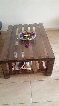 #DIY Pallet Coffee Table for Living Room | 99 #Pallets