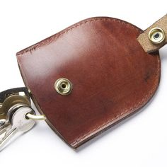 hand made leather key pouch case by tanner bates | notonthehighstreet.com