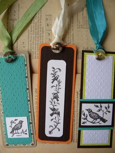 Good pattern for homemade bookmarks.  Great using re-purposed materials.  #homebusiness