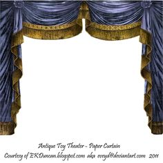 Paper Theater Curtain Saphire by ~EveyD on deviantART