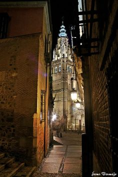 Catedral de Toledo de noche