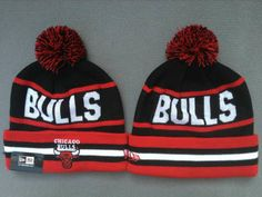 Chicago Bulls hats New Era black Red Beanies