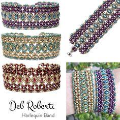 New bracelet pattern by Deb Roberti - Harlequin Band