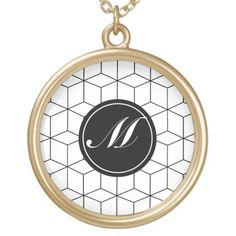Modern Pattern and Monogram Jewelry