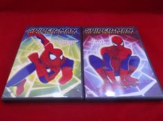 Lot Of 2 Spider-Man The New Animated Series DVD's High Voltage Villains The Ultimate Face-Off  #SpiderMan #Animated #DVD #TVShow #SuperHero #Bonanza