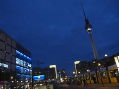 Berlin Alexander Platz. I shooted the picture on the 17th of May 2016, at 21:26. The TV tower gives to the landscape an unusual tast.