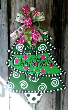 841 Best Christmas Door Hangers Images On Pinterest In 2019