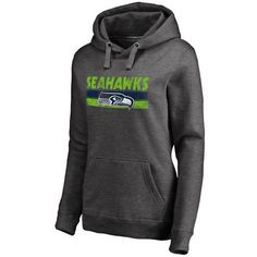 Women's NFL Pro Line by Fanatics Branded Charcoal Seattle Seahawks First String Pullover Hoodie - Seahawks Pro Shop