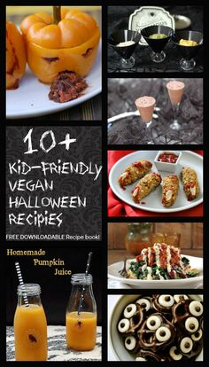 Kid-Friendly Vegan Halloween Recipes perfect for after school snacks or a halloween party with your child's class or friends.