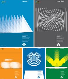 2012 London Olympic Summer Games Posters Alan Clarke – created Olympic posters whilst at Falmouth uni – tennis, diving, fencing, cycling, sailing – he now works for a group called 'two now'