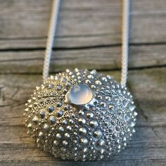 Beautiful Sterling silver Sea Urchin Necklace by zulasurfing, I love this woman's work... #jewelrynecklaces