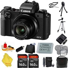 Introducing Canon PowerShot G5 X Digital Camera 42x Optical Zoom WiFi and 3 inch LCD  Case  2pcs 16 GB Card  Reader  6pc Starter Set  Tripod  Extra Charger. Great Product and follow us to get more updates!